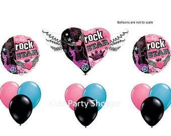 Rock Star ROCKER Girl BALLOON SET Birthday Party Supplies Decoration Centerpiece Photo Prop