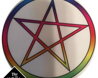 Rainbow Pentacle Sticker