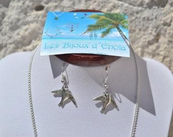 Dove earrings / silver birds