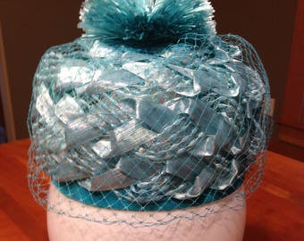 Vintage 1960's Pill Box Hat