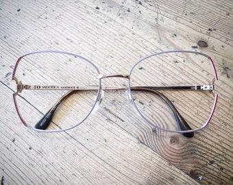 Vintage 1980's Handmade Valdottica Oversized Eyeglasses Glasses Frames