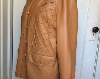 Vintage 70 ' s veste en Faux cuir