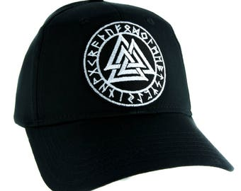 Valknut Odin Viking Symbol Hat Baseball Cap Alternative Clothing Old Norse Mythology - YDS-EMPA-043-CAP