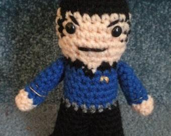 Made to order, Hand crocheted Spock Vulcan Star Trek  Amigurumi Doll