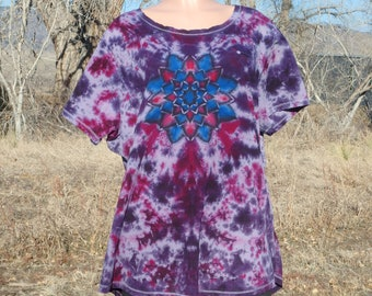 Double Mandala Tie Dye Cotton Tee Shirt 3XL