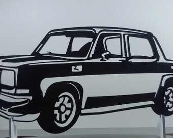 Plate teaches SIMCA RALLY 3 painted iron