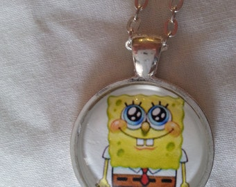 Spongebob Squarepants Glass Pendant Necklace