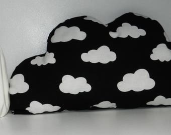 Cushion cloud patterned clouds and white decor nursery baby
