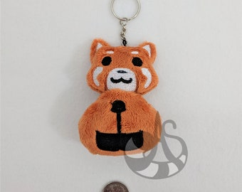 Red Panda Plush Keychain