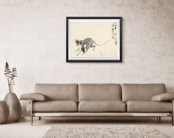 Year of the Rat, Chinese Rat print, Chinese zodiac Print, personalized gift, birthday gift, Asian art, Art Poster, poster wall art