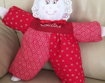Soft rag doll to order