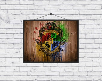 Hogwarts school of witchcraft and wizardry Harry Potter Poster
