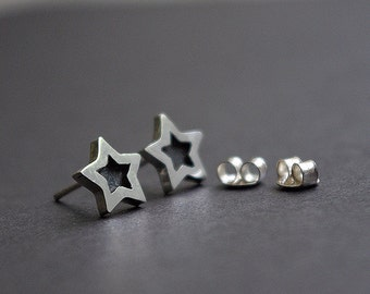 Handmade silver earrings, Stud earrings,