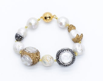 Mana Gold and Silver Bling Bracelet