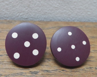 Maroon 'don't match studs' with nude spots + dots