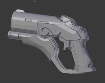 Mercy Zhuque Gun Pistol from Overwatch 3D Printed Prop