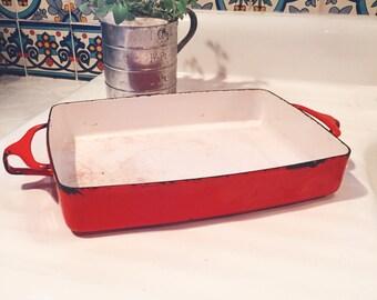 Dansk Kobenstyle Casserole Dish Red Mid Century Modern