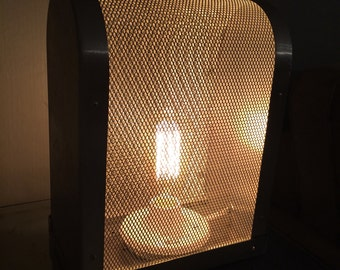 Repurposed vintage 1960's NYC School PA system lamp with Edison style bulb