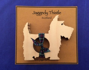 Wooden Napkin Rings - Scottie Dog (Set of 4)