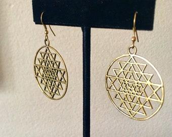 Merkaba Earrings, Sacred Geometry Jewelry
