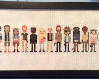 The Walking Dead: Characters - Cross Stitch Pattern