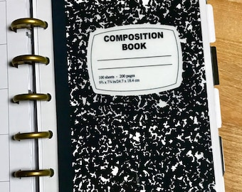 DASHBOARD Composition Book for use with the MINI Happy Planner