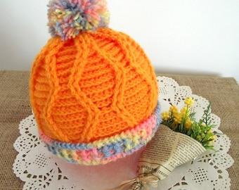 CROCHET PATTERN Baby Hat pattern  - Alegria Baby Hat - Beanie Pattern pdf pattern for babies Instant Download