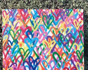 Graffiti Hearts Painting