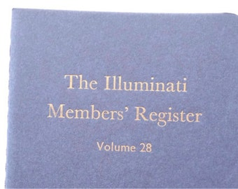 The Illuminati - Small Funny Letterpress Notebooks, Jotters, Mini Journals, Cahiers - Unlined A6 Pocket Moleskines