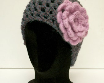 Beanie Hat - Purples and Pinks