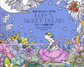 Ruby's sweet dream by Inko Kotoriyama-  Japanese coloring book