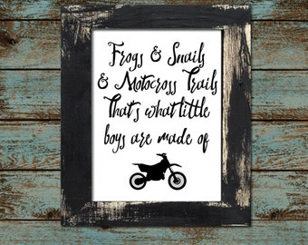 "Baby or Toddler Motocross Dirtbike Nursery - Playroom 11""x14"" - Digital Printable Download"
