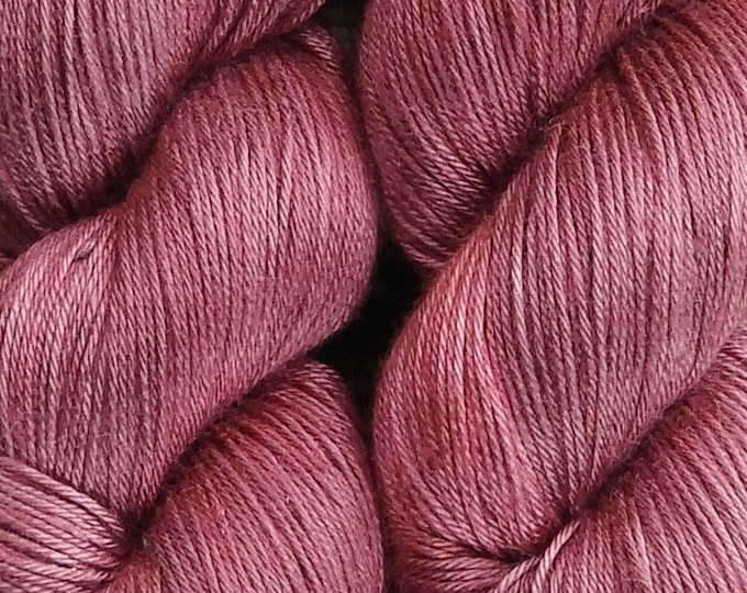 Hand dyed yarn - 'Rose' - dyed to order on your choice of base yarn.