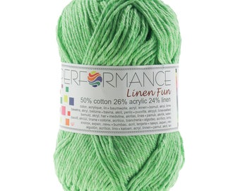 10 x 50g knitting yarn linen fun #155 Green