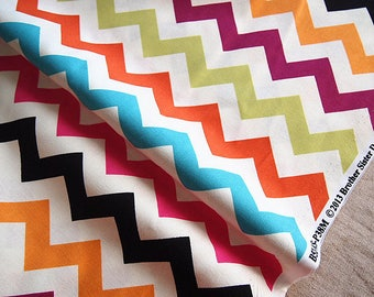 American fabric Brother Sister colorful zigzag Rainbow 110 * 50 cm