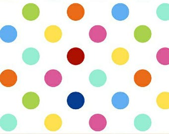 Windham Basic Brights - Polka Dot in Multi Colors - Bright Basics Cotton Quilt Fabric Dots - Windham Fabrics - 31645-17 (W4144)