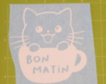"""Decal """"Cat in a cup"""""""