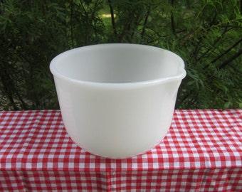 Vintage Glasbake Mixing Bowl - Small White