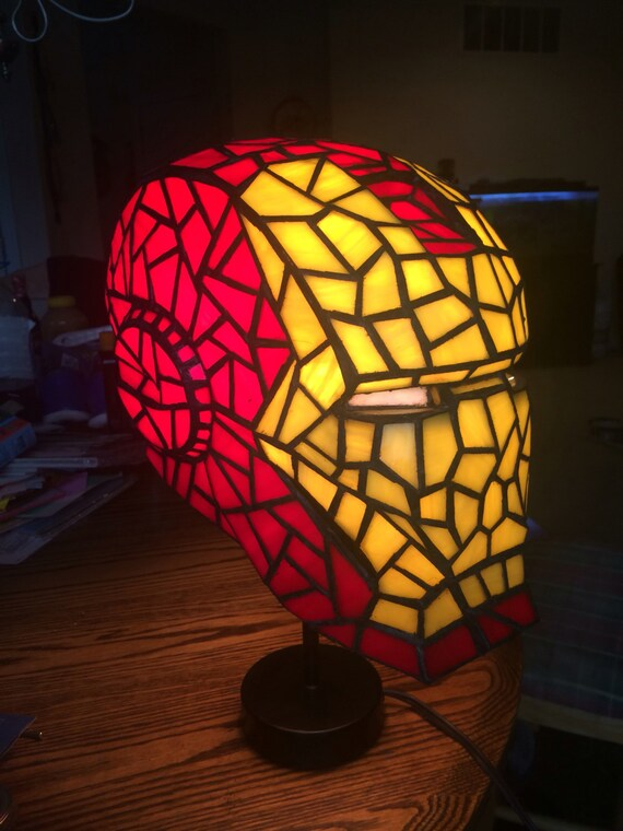 High Quality Iron Man Stained Glass Desk Lamp