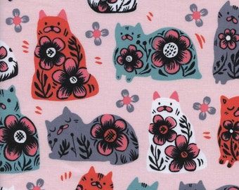 Cotton + Steel – From Porto With Love by Sarah Watts, Sushi's Antiques – Pink