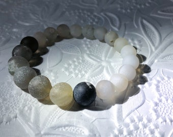 Real Matte Druzy Beads Stretchy Bracelet / Cool / Gift Ideas