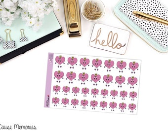 HAPPY HEART DOODLE Paper Planner Stickers