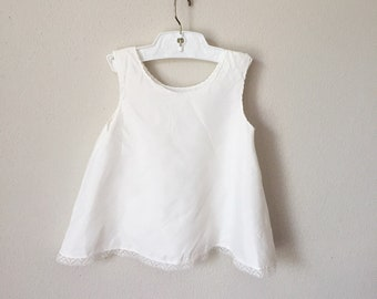 Vintage 1950s Baby Slip / 50s 60s Rayon Toddler Spring Summer  12 18 Months 1 Year