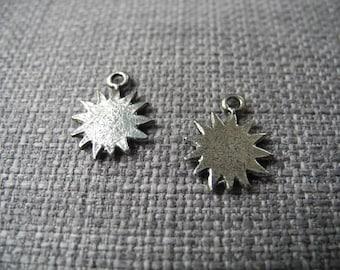 Small charm silver metal star