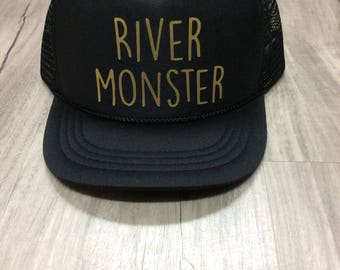 River Monster Youth Trucker Hat River Hat Youth Hat Lake Hat