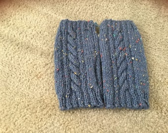 Adults 100% pure wool fingerless gloves