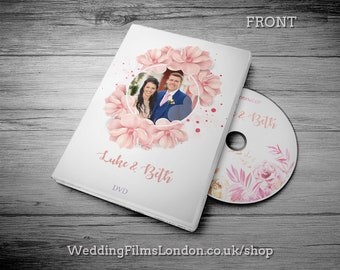"""Custom CD DVD Box, Personalised dvd Case - Wedding Music, Video Wedding Photographs dvd/cd Case, Cover and Disc. Printed Disc. """"N4"""""""