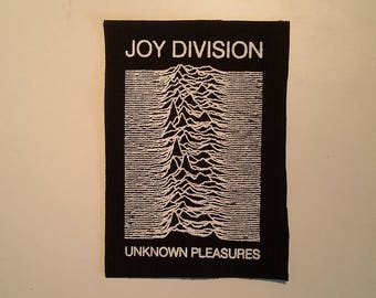 Joy division Unknown pleasures patch post punk goth new wave
