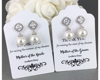 Gift for Moms Swarovski Earring Dangle Earrings Mother in Law Gift Mother of Bride Gift Mother of Groom Gift Wedding Earrings