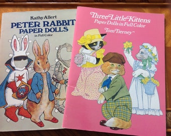 Three Little Kittens and Peter Rabbit Paper Doll Set
